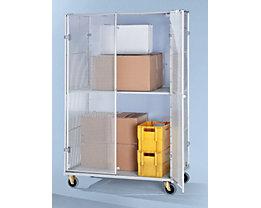 Aluminium-Rollbehälter - Sicherheitsausführung, HxBxT 1900 x 1200 x 800 mm