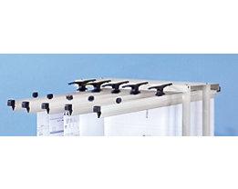 Einhängehalterung, Aluminium - für max. 20 Seiten - für DIN A0, VE 5 Stk