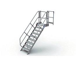 Module d'escalier - marches en aluminium, largeur marches 800 mm