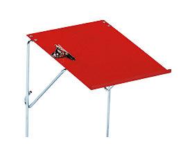 Schreibtafel - für Universal-Transportwagen - feuerrot