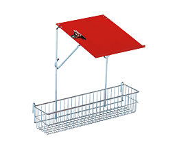 Anhängekorb mit Schreibtafel - für Universal-Transportwagen - Korbhöhe 100 mm