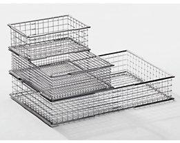 Drahtstapelbehälter - Außen-LxB 297 x 198 mm, Maschenweite 20 x 20 mm