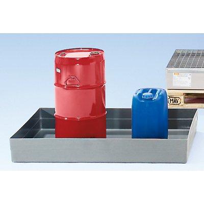 CEMO Cuve de rétention pour palettes en polyester armé de fibre de verre - modèle non homologué, sans fixations