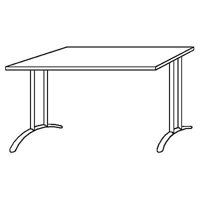Hammerbacher BIANCA Schreibtisch - Breite 1600 mm