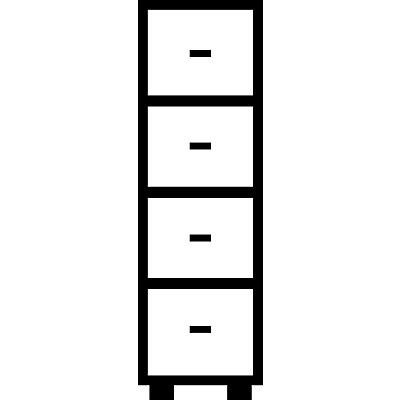 Mauser Hängeregistraturschrank, Bügelgriffe - 4 Schübe, Standardeinzug, 1-bahnig