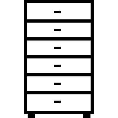 Mauser Karteischrank, Bügelgriffe - 6 Schübe, Sanfteinzug, 3-bahnig