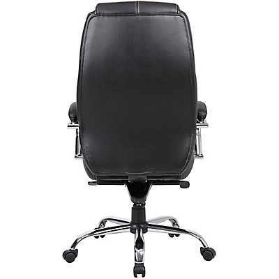Lederbürostuhl Genua - mit hoher Rückenlehne, schwarz