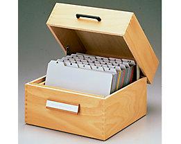 HAN Karteikasten 1005 DIN A5 quer max. 1.500 Karten Holz natur