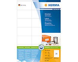 HERMA Etikett PREMIUM   weiß 2.100 St./Pack.