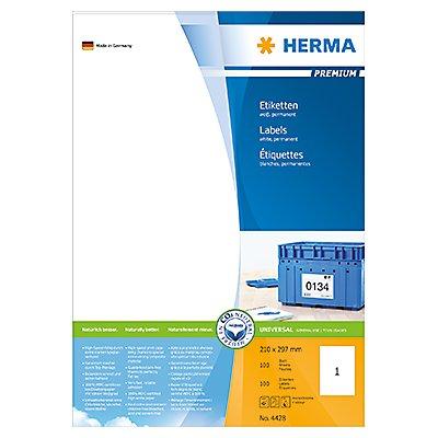 HERMA Etikett PREMIUM 4428 210x297mm weiß 100 St./Pack.