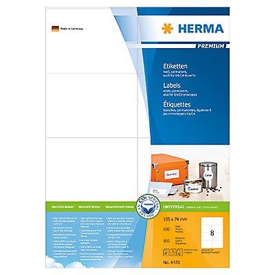 HERMA Etikett PREMIUM 4470 105x74mm weiß 800 St./Pack.