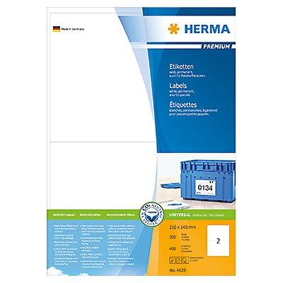 HERMA Etikett PREMIUM 4628 210x148mm weiß 400 St./Pack.