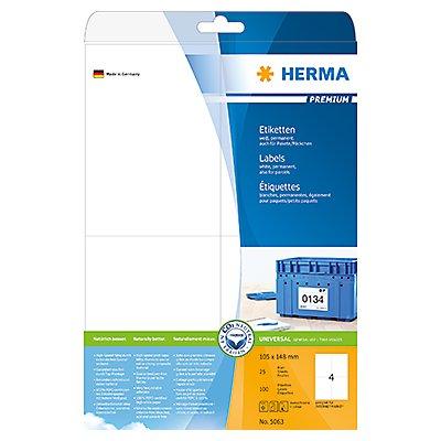 HERMA Etikett PREMIUM 5063 105x148mm weiß 100 St./Pack.