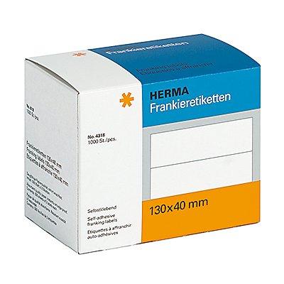HERMA Frankieretikett 4318 130x140mm weiß 1.000 St./Pack.
