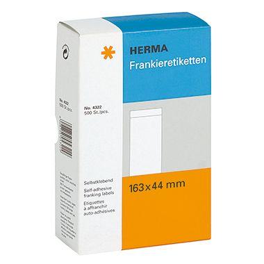 HERMA Frankieretikett 4322 163x44mm einzeln weiß 500 St./Pack.