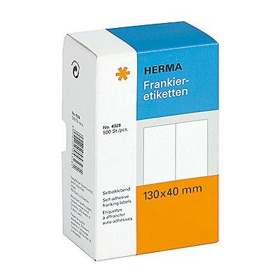 HERMA Frankieretikett 4328 130x40mm doppelt weiß 500 St./Pack.