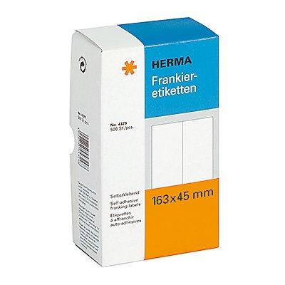 HERMA Frankieretikett  163x45mm doppelt weiß  St./Pack.