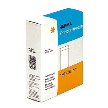 HERMA Frankieretikett 4330 130x40mm einzeln weiß 500 St./Pack.