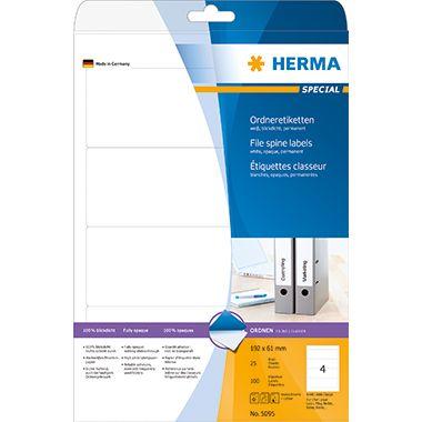 HERMA Ordneretikett 5095 kurz/breit sk weiß 100 St./Pack.