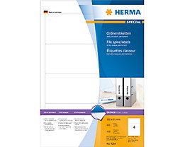HERMA Ordneretikett 4284 kurz/breit sk weiß 400 St./Pack.