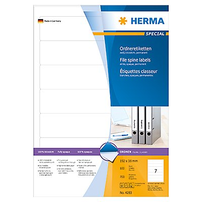 HERMA Ordneretikett 4283 kurz/schmal sk weiß 700 St./Pack.