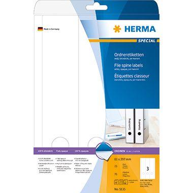 HERMA Ordneretikett 5135 lang/breit sk ws 75 St./Pack.