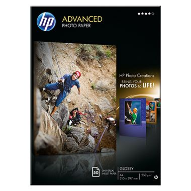 HP Fotopapier Advanced  DIN A4 250g weiß  Bl./Pack.