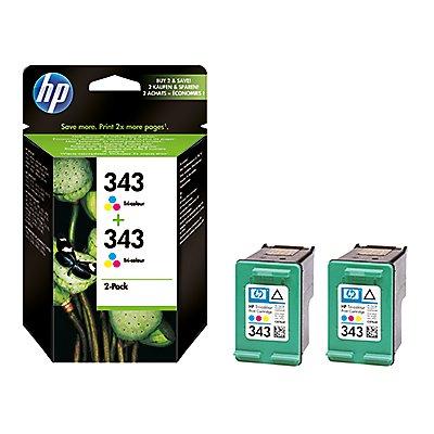 HP Tintenpatrone CB332EE Nr.343 c/m/y 2 St./Pack.