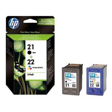 HP Tintenpatrone SD367AE sw/c/m/y 2 St./Pack.