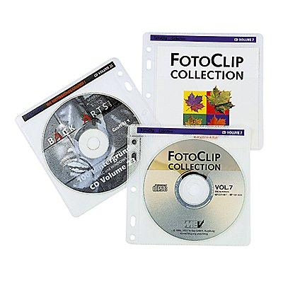 Hama CD/DVD Hülle 00048444 für 2CDs/DVDs tr/ws 40 St./Pack.