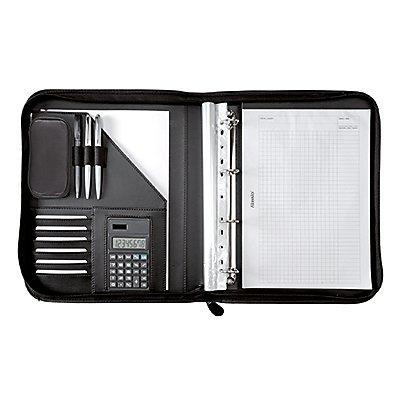 Alassio Schreibmappe RICCIONE 30040 28,5x35,7x4,5cm Lederimitat schwarz