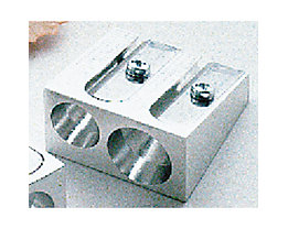 Doppelspitzer 7,8-11mm Keilform Metall silber