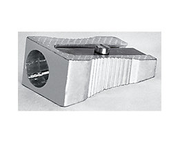 Spitzer bis 8,5mm Keilform Metall silber