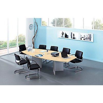Hammerbacher Konferenztisch - Gestellvariante Wangen, für 10 Personen