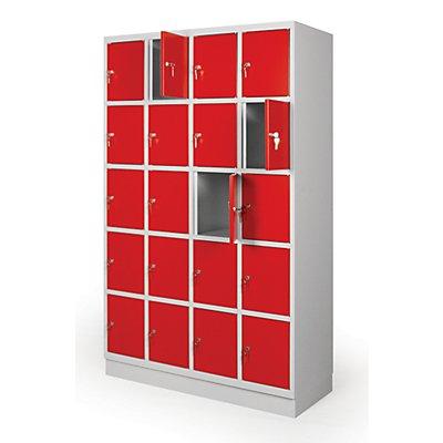 Garderobenschrank mit 20 Fächern | HxBxT 1950 x 1225 x 500 mm