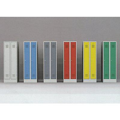 Garderobenschrank aus Metall | HxBxT 185 x 90 x 50 cm | Grau