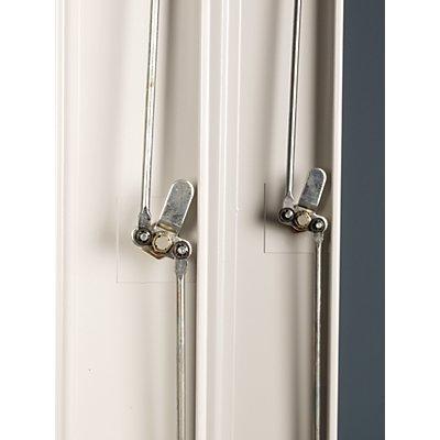 Garderobenschrank aus Stahl | BxT 80 x 49 cm