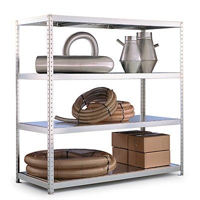 Schwerlast-Steckregal | 4 Fachböden aus Stahl | HxBxT 197 x 200 x 60 cm