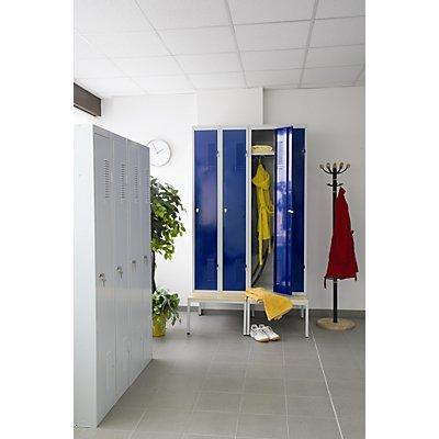 Garderobenschrank aus Stahlblech | HxBxT 1800 x 1200 x 500 mm