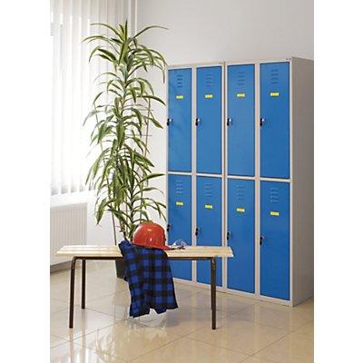 Metall-Schließfachschrank | HxBxT 180 x 60 x 49 cm | Blau