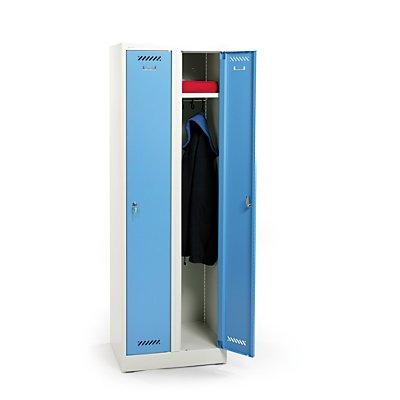 Stabiler Garderobenschrank | Zylinderschloss | HxBxT 180 x 60 x 50 cm