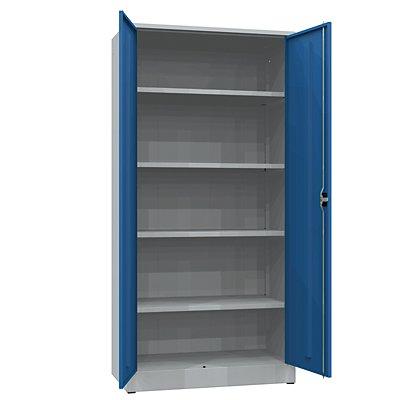 Werkstattschrank | 3 Fachböden + 10 Schubladen | Grau