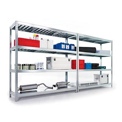 Schwerlast-Steckregal   4 Fachböden aus Stahl   HxBxT 197 x 200 x 60 cm