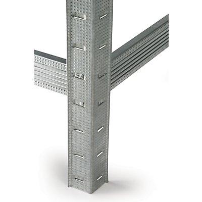 Fachbodenregal aus Metall | 2 Stück | HxBxT 200 x 100 x 60 cm | Weiß