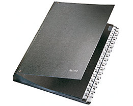Leitz Pultordner 58310095 DIN A4 32Fächer Hartpappe schwarz