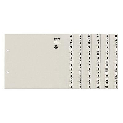 Leitz Registerserie 13060085 DIN A4 A-Z für 6Ordner Tauenpapier grau