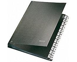 Leitz Pultordner 58240095 DIN A4 24Fächer Hartpappe schwarz