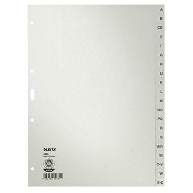 Leitz Register 43000085 A-Z DIN A4 20teilig Papier grau