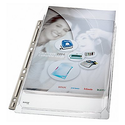 Leitz Prospekthülle Maxi 47553003 DIN A4 0,17mm PVC tr 3 St./Pack.