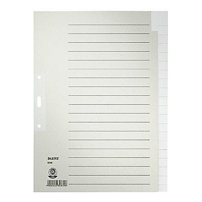 Leitz Register 60960085 blanko DIN A4 Tauenpapier grau